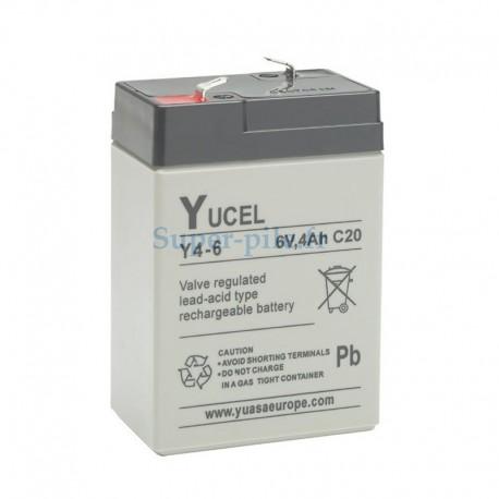 Batterie au plomb Yucel 6V 4Ah