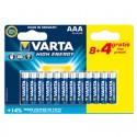 Piles alcalines AAA Varta High Energy (8+4 gratuites)