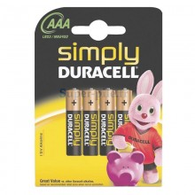 Piles alcalines AAA Duracell Simply (blister de 4)