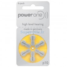 Piles auditives Power One ZA10 - PR70 (blister de 6)