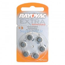 Piles auditives ZA13 - PR48 Rayovac Extra Advanced (blister de 6)
