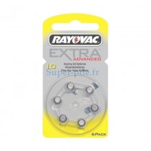 Piles auditives ZA10 - PR70 Rayovac Extra advanced (blister de 6)