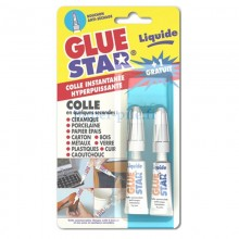 Lot de 2 tubes 3g GLUE STAR liquide