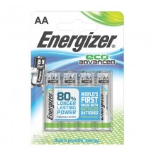 Piles alcalines AA Energizer Eco Advanced (blister de 4)