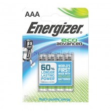 Piles alcalines AAA Energizer Eco Advanced (blister de 4)