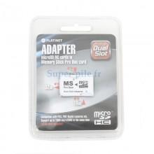 Adaptateur Memory stick pro duo vers 2X micro SD