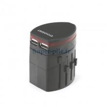 Adaptateur de voyage 4 en 1 + 2 ports USB