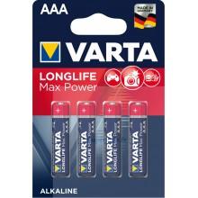 Piles alcalines AAA Varta Longlife Max Power (blister de 4)
