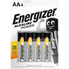 Piles alcalines AA Energizer Alkaline Power (blister de 4)