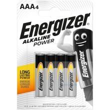 Piles alcalines AAA Energizer Alkaline Power (blister de 4)