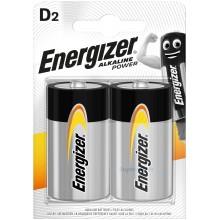 Piles alcalines LR20 Energizer Alkaline Power (blister de 2)