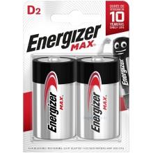 Piles alcalines LR20 Energizer Max (blister de 2)
