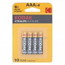 Piles alcalines AAA Kodak Xtralife (blister de 4)