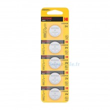 Pile lithium CR2430 Kodak (plaquette de 5)