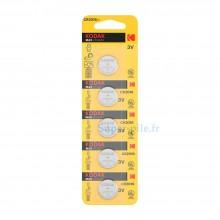 Pile lithium CR2016 Kodak (plaquette de 5)