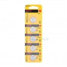 Piles lithium CR2025 Kodak (plaquette de 5)