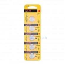 Pile lithium CR2032 Kodak (plaquette de 5)