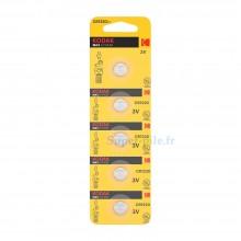 Pile lithium CR1220 Kodak (plaquette de 5)