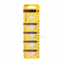 Pile lithium CR1620 Kodak (plaquette de 5)