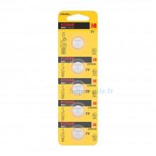 Pile lithium CR1616 Kodak (plaquette de 5)