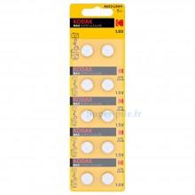 Pile bouton alcaline LR44 Maxell (blister de 2)