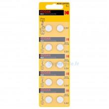 Pile alcaline LR54 - V10GA Kodak (plaquette de 10)