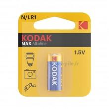 Pile alcaline LR1-N Kodak (blister de 1)