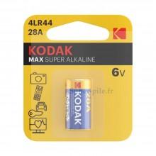 Pile alcaline 4LR44 - 28A Kodak (blister de 1)