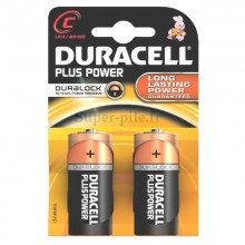 Piles alcalines LR14 Duracell Plus Power  (blister de 2)