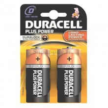 Piles alcalines LR20 Duracell Plus Power (blister de 2)