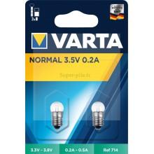 Blister de 2 ampoules Argon à vis 3,5V 0,2A