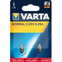 Blister de 2 ampoules Argon à vis 2,25V - 0,25A
