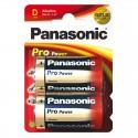Piles alcalines LR20 Panasonic Pro Power (blister de 2)